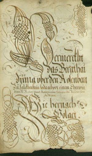 """Falkensteiner """"Bergtaidingbuechl"""", 1584, Pergament, 4 Seiten; 20 x 31, Falkenstein, Marktgemeinde Falkenstein."""