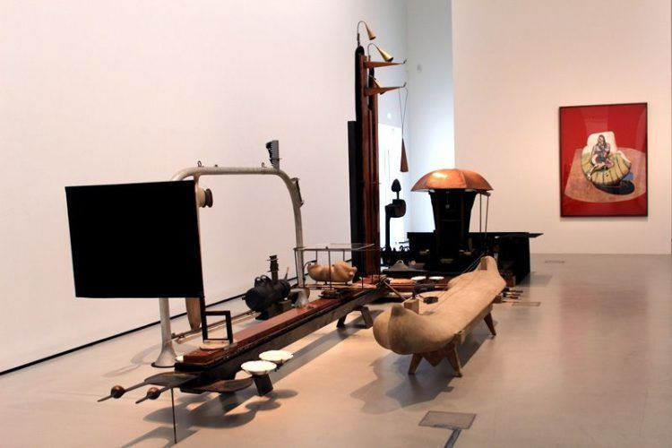 Gironcoli und Bacon, in: Gironcoli: Context, Belvedere, Orangerie 2013, Installationsfoto: Alexandra Matzner.