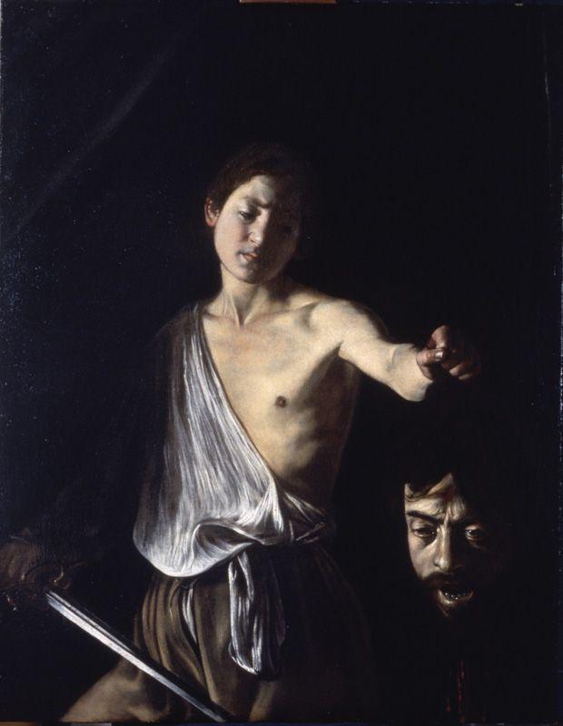 Caravaggio, David mit dem Haupt von Goliath, 1605-1606 (Galleria Borghese)