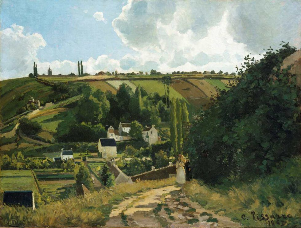 Camille Pissarro, Côte du Jallais, Pontoise, 1867, Öl auf Leinwand, 87 × 114.9 cm (The Metropolitan Museum of Art, New York, bequest of William Church Osborn, 1951)