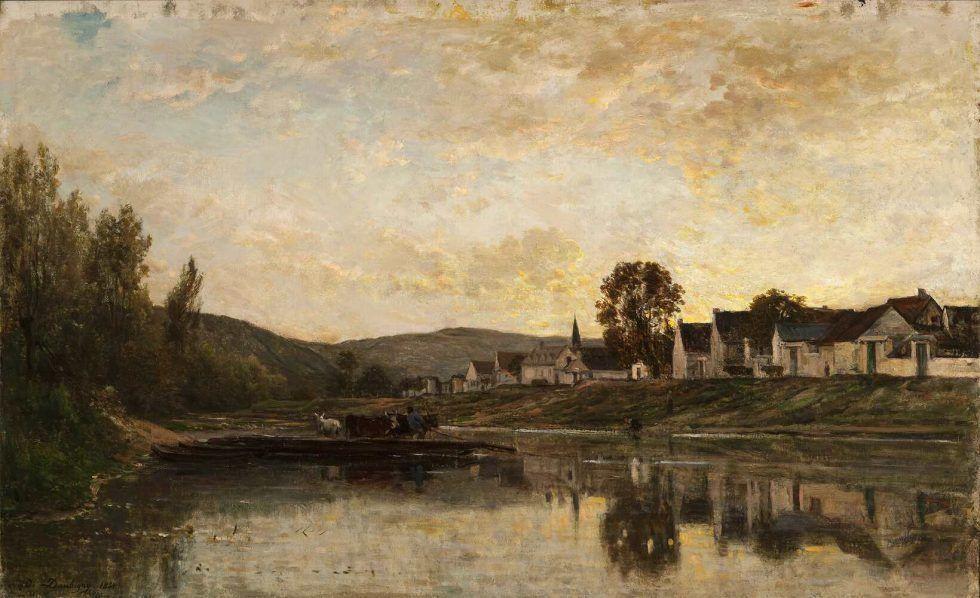 Charles-François Daubigny, Fähre bei Bonnières-sur-Seine, 1861, Öl auf Leinwand (Taft Museum of Art, Cincinnati)