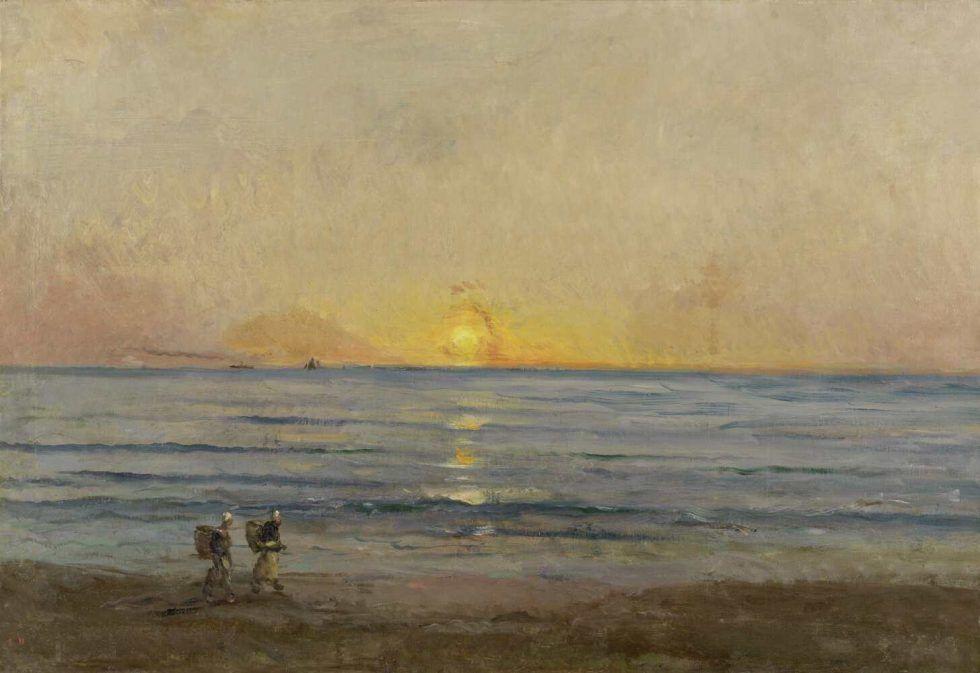 Charles-François Daubigny, Sonnenuntergang bei Villerville, um 1876, Öl auf Leinwand, 89 x 130 cm (The Mesdag Collection, Den Haag)