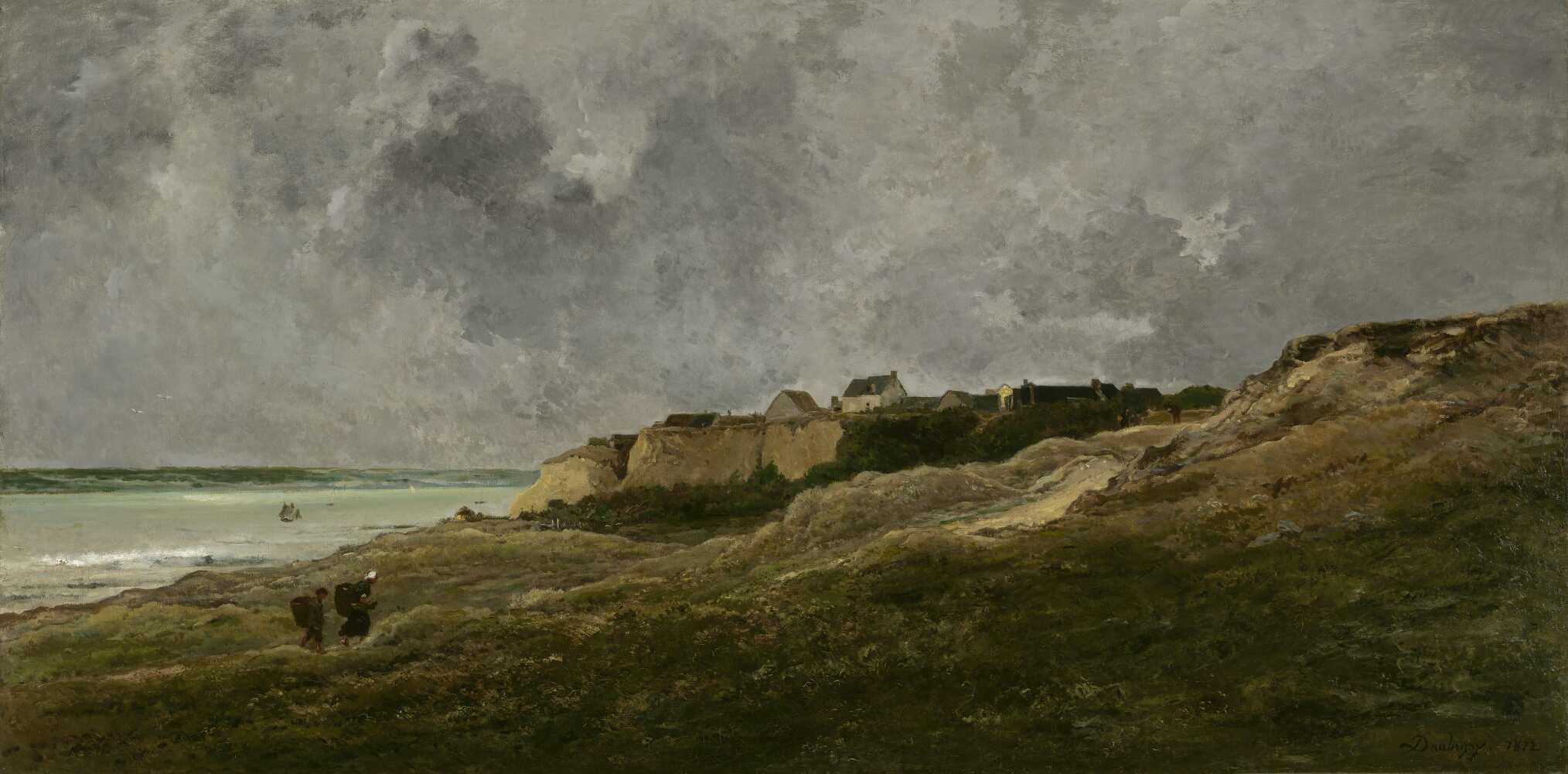Charles-François Daubigny, Villerville-sur-Mer, 1864 (Salon von 1872), Öl auf Leinwand, 100 x 200 cm (The Mesdag Collection, Den Haag)