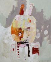 Christina Gschwantner, Mondhase auf Reisen (2007), Acryl auf Leinwand; Foto: Christina Gschwantner