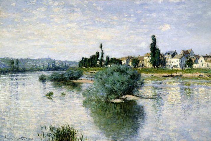 Claude Monet, Die Seine bei Lavacourt, 1880, Öl auf Leinwand, 98,4 x 149,2 cm (Dallas Museum of Art)