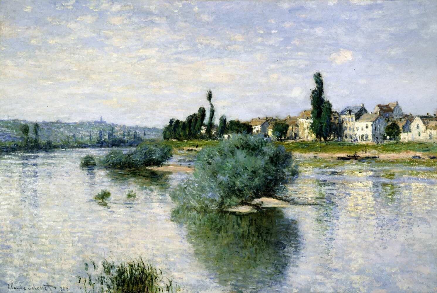 Claude Monet, Die Seine bei Lavacourt, 1880, Öl auf Leinwand, 100 x 150 cm (Dallas Museum of Art)