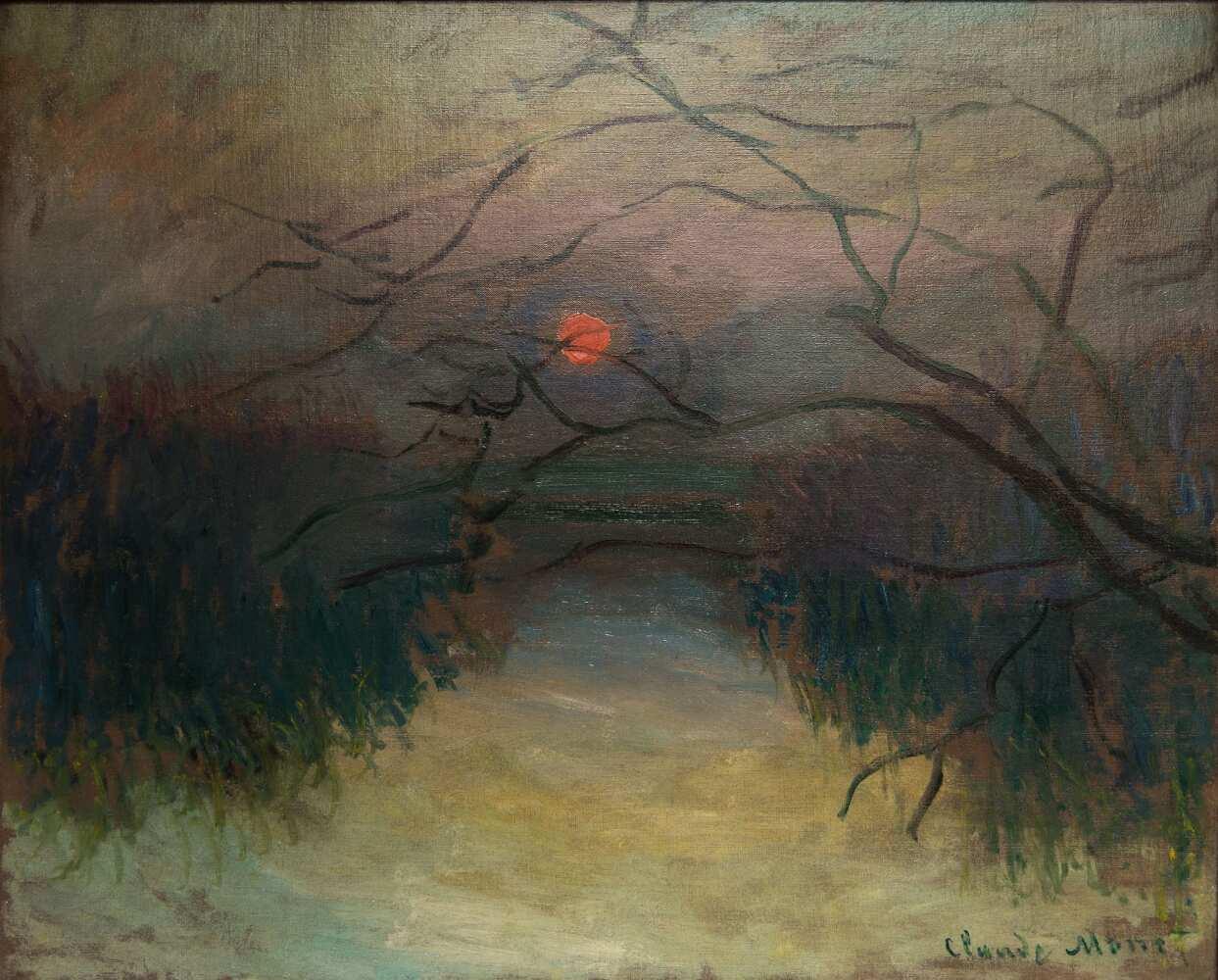 Claude Monet, Sonnenuntergang, 1880, Öl auf Leinwand (Privatsammlung, C/O Galerie de la B éraudieré, Genf)