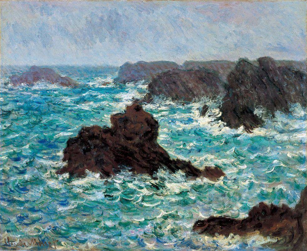 Claude Monet, Belle-Île, Regeneffekt, 1886, Öl auf Leinwand (© Bridgestone Museum of Art, Ishibashi Foundation, Tokyo)