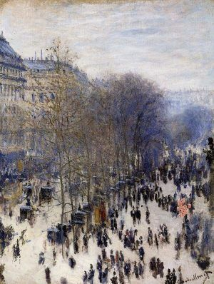 Claude Monet, Boulevard des Capucines, 1873, Öl auf Leinwand, 80,3 x 60,3 cm (Nelson-Atkins Museum of Art, Kansas City)