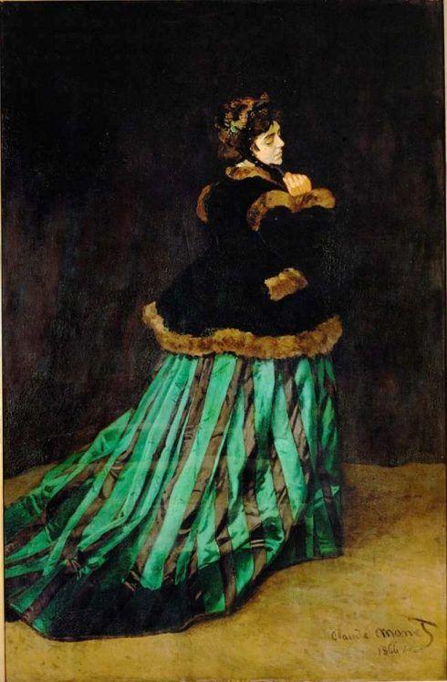 Claude Monet, Camille oder Das grüne Kleid, 1866, Öl auf Leinwand, 231 x 151 cm (Kunsthalle Bremen, Der Kunstverein in Bremen)
