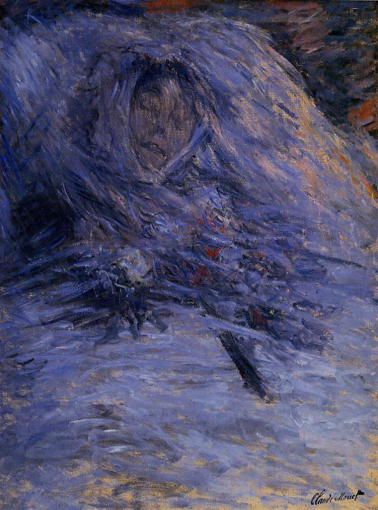 Claude Monet, Camille Monet auf ihrem Totenbett, 1879, Öl auf Leinwand, 90 x 68 cm (Musée d'Orsay)