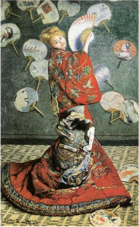 Claude Monet, Camille Monet im japanischen Kostüm, 1876, Öl auf Leinwand, 231 x 142 cm (Museum of Fine Arts Boston, 1951 Purchase Fund)