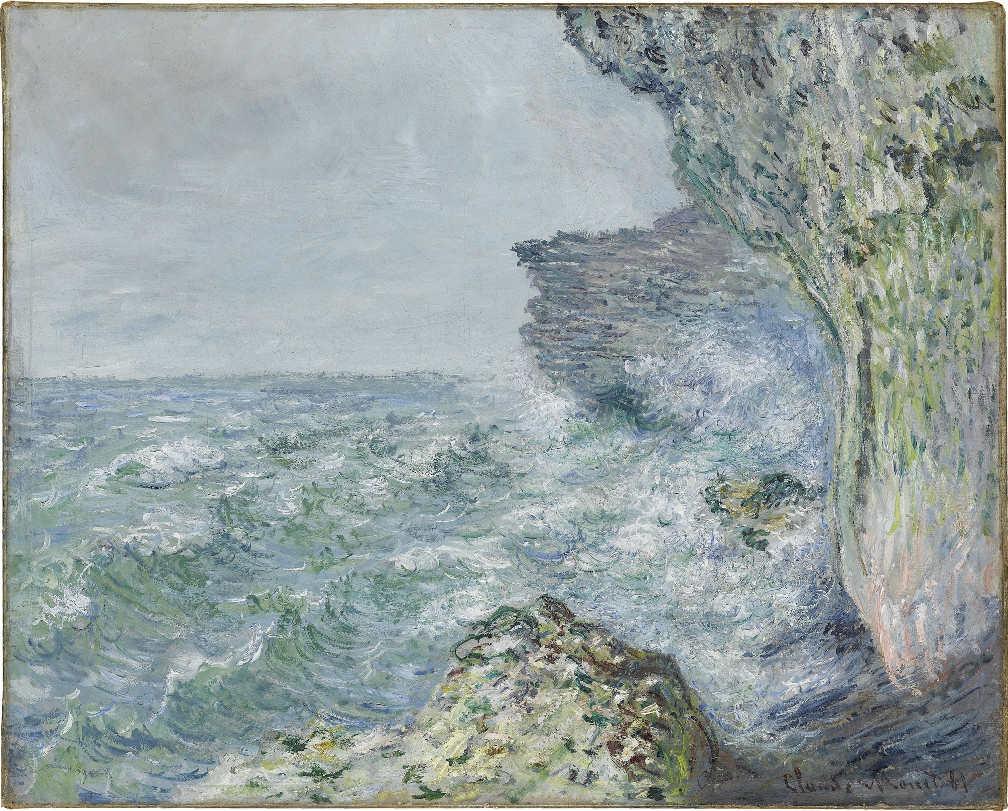 Claude Monet, Das Meer bei Fécamp, 1881, Öl auf Leinwand, 65,5 cm x 82 cm (Staatsgalerie Stuttgart)
