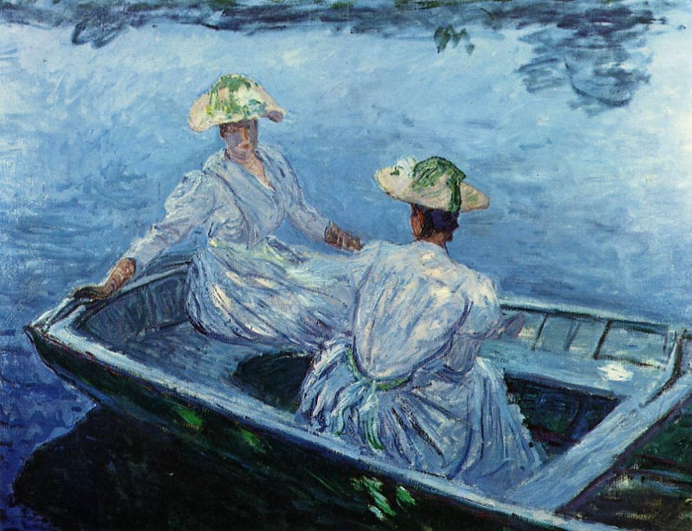 Claude Monet, Das blaue Ruderboot, 1887, Öl auf Leinwand, 109 x 129 cm (Privatsammlung)