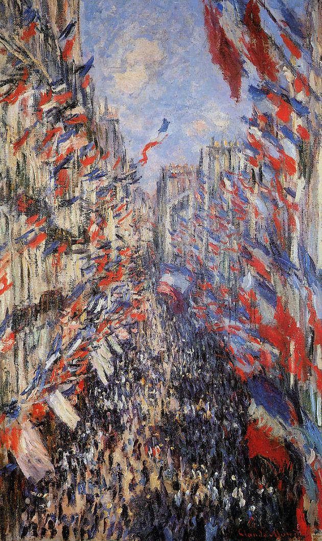 Claude Monet, Die Rue Montorgeuil am 30. Juni 1878, 1878, Öl auf Leinwand (Musée d' Orsay, Paris)