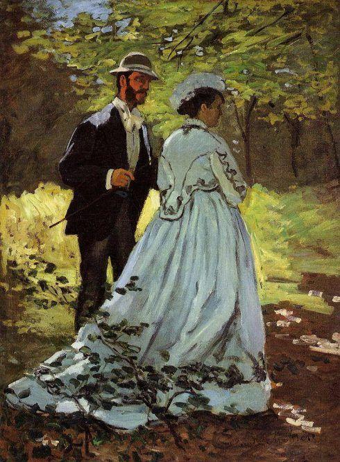 Claude Monet, Die Spaziergänger (Studie für Das Frühstück im Grünen), 1865, 93,5 x 69,5 cm (Washington, National Gallery of Art)