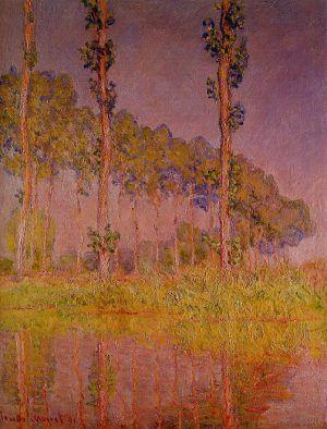 Claude Monet, Drei Pappeln im Frühling, 1891 (Privatsammlung)