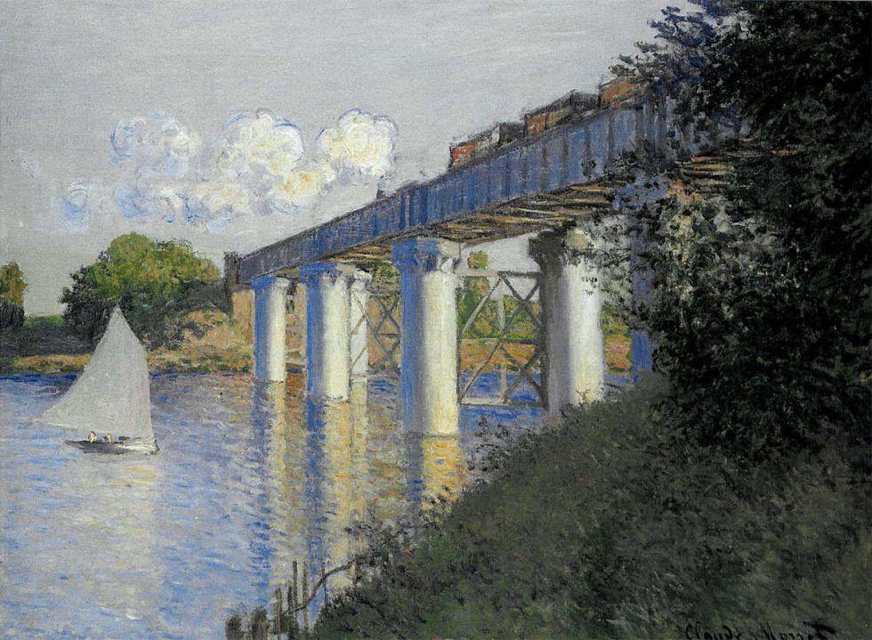 Claude Monet, Eisenbahnbrücke in Argenteuil, 1874 (Philadelphia Museum of Art)