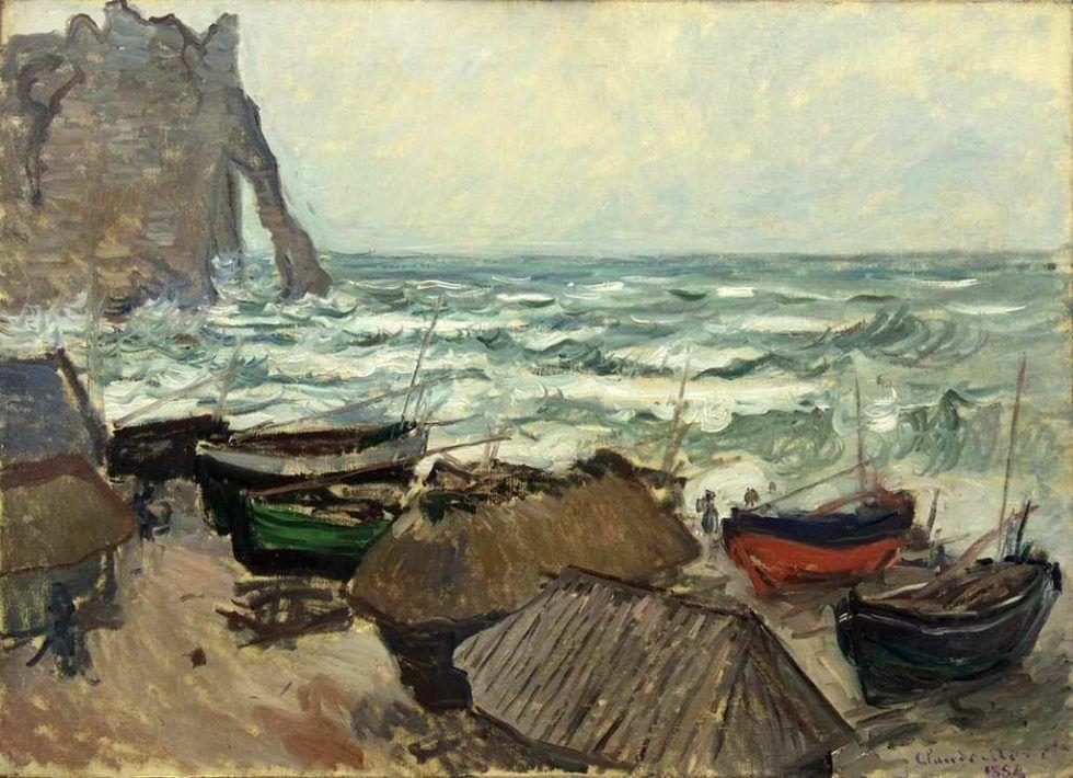 Claude Monet, Fischerboote am Strand von Étretat, 1883/84 (Wallraf-Richartz-Museum, Köln)