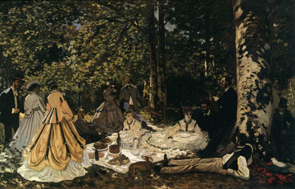 Claude Monet, Frühstück im Grünen, 1865, 130 x 181 cm (Pushkin Museum of Fine Arts)