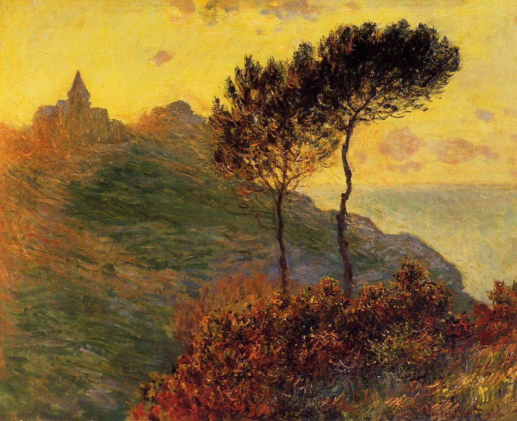 Claude Monet, Kirche von Varengaville, gegen Sonnenuntergang, 1882 (Barber Institute of Fine Arts, University of Birmingham)