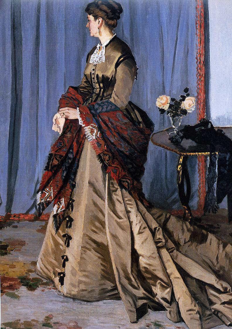 Claude Monet, Madame Louis Joachim Gaudibert, 1868, Öl auf Leinwand, 217 x 139 cm (Musée d'Orsay)