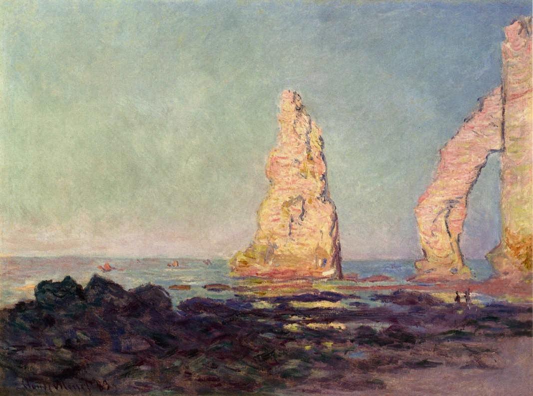 Claude Monet, Nadelfelsen von Etretat, Ebbe, 1883, Öl auf Leinwand, 60 x 81 cm (Privatsammlung)