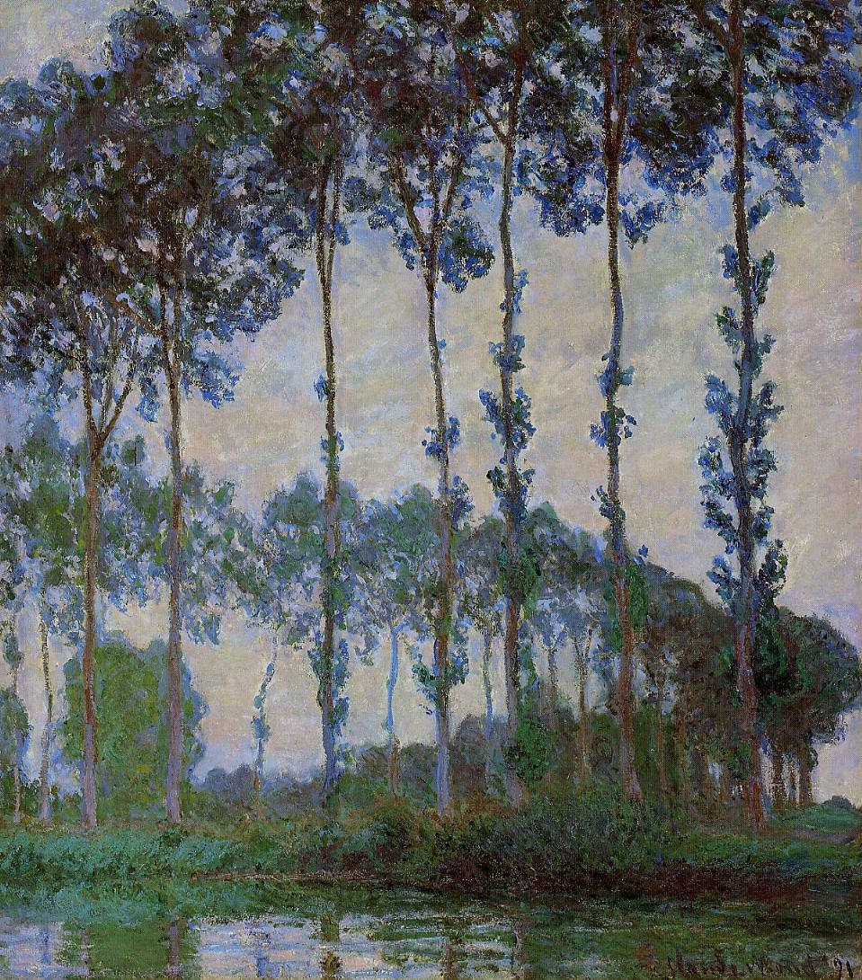 Claude Monet, Pappeln am Ufer der Epte bei Sonnenaufgang, 1891 (Museum of Fine Arts Boston)