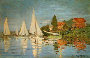 Claude Monet, Regatta in Argenteuil, 1872, Öl auf Leinwand, 48 x 75 cm (Musée d'Orsay, Paris)