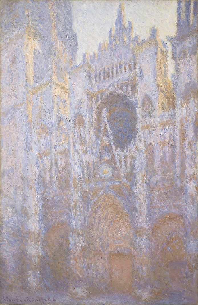 Claude Monet, Kathedrale von Rouen, Westfassade, 1894 (The National Gallery, Chester Dale Collection, Washington)