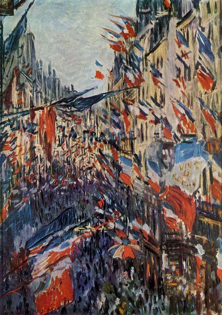 Claude Monet, Die Rue Saint-Denis am 30. Juni 1878 (Musée des Beaux-Arts de Rouen)