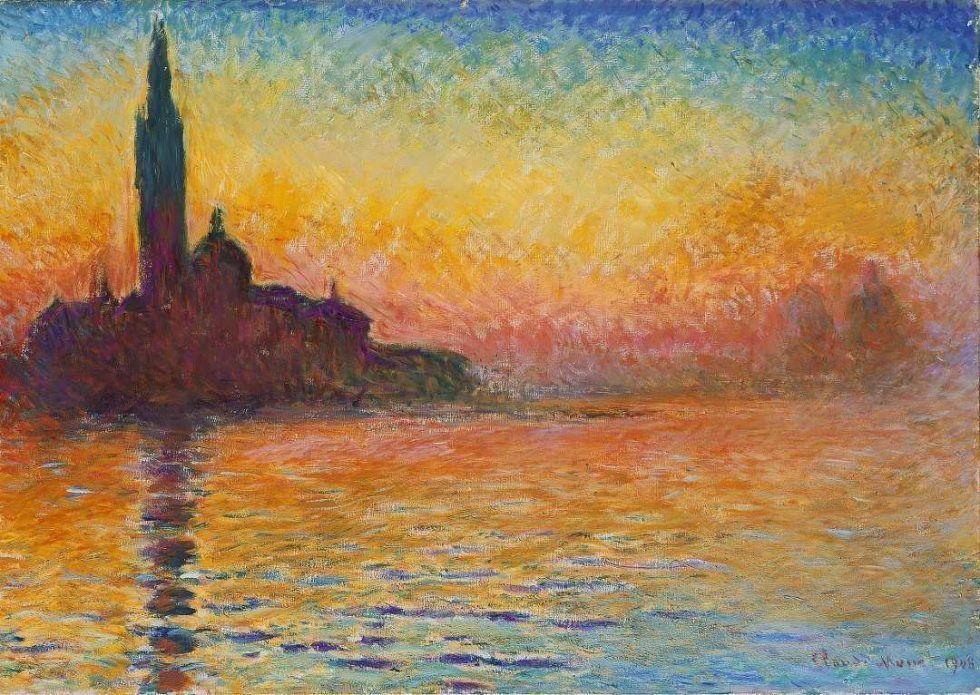 Claude Monet, San Giorgio Maggiore im Sonnenaufgang, 1908 (Amgueddfa Cymru, Cardiff, Wales)