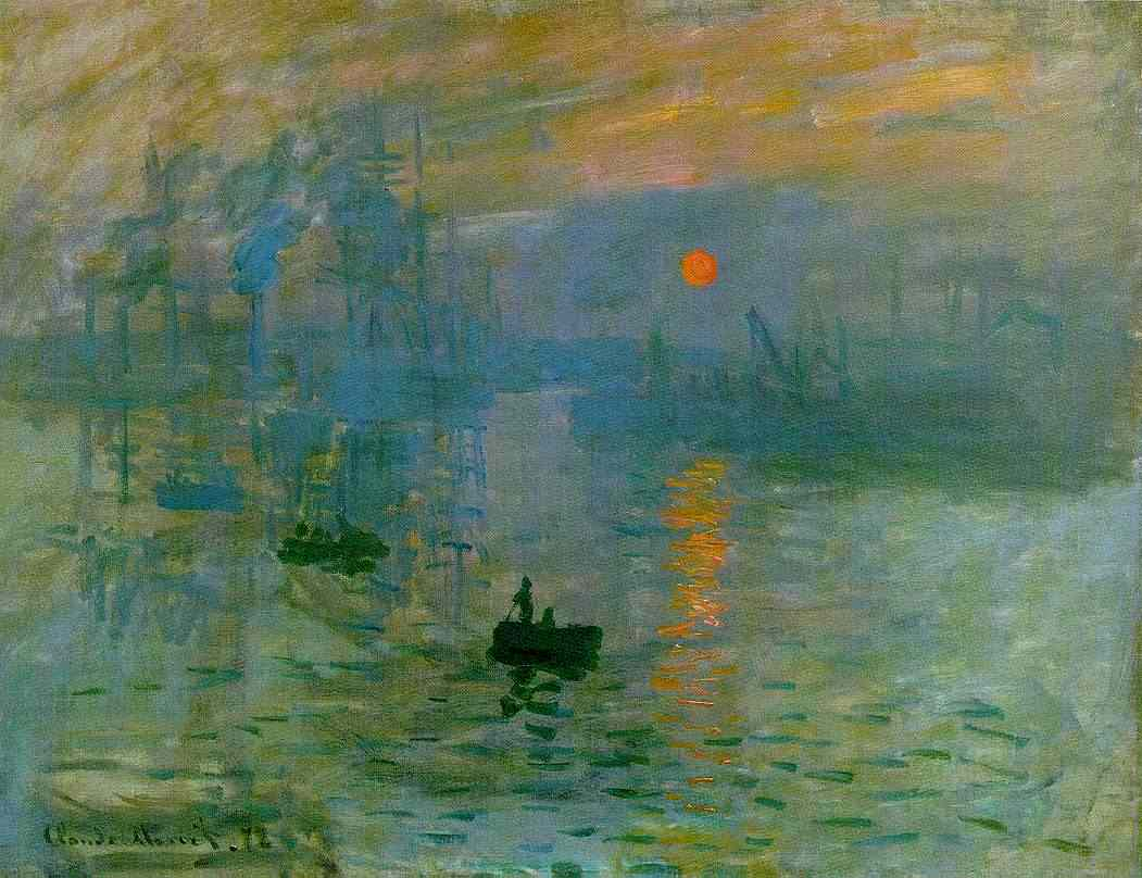 Claude Monet, Sonnenaufgang, Impression, 1872/73 (Musée Marmottan Monet, Paris)