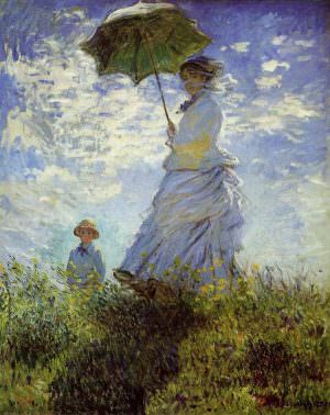 Claude Monet, Spaziergang, Frau mit Schirm, 1875, Öl auf Leinwand, 100 x 81 cm (National Gallery of Art, Washington, Collection of Mr. and Mrs. Paul Mellon)