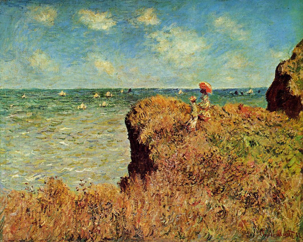 Claude Monet, Spaziergang auf den Klippen, Pourville, 1882, Öl auf Leinwand, 67 x 82 cm (Art Institute of Chicago)