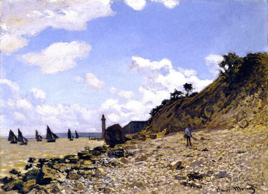 Claude Monet, Strand von Honfleur, 1864, Öl auf Leinwand, 59,7 x 81,3 cm (Los Angeles County Museum of Art)