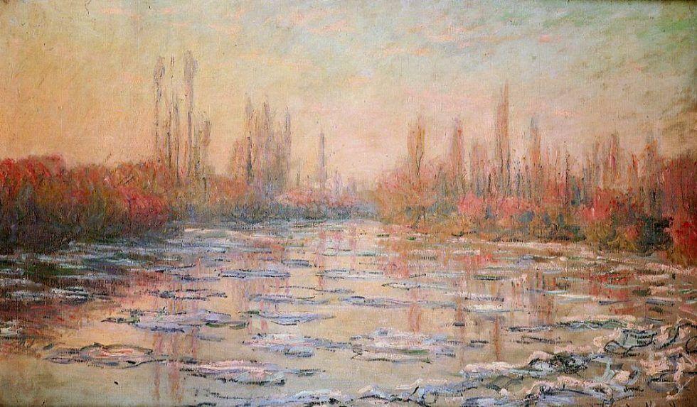 Claude Monet, Treibendes Eis, 1880, Öl auf Leinwand, 97 x 150,5 cm (Musée d'Orsay, Paris)