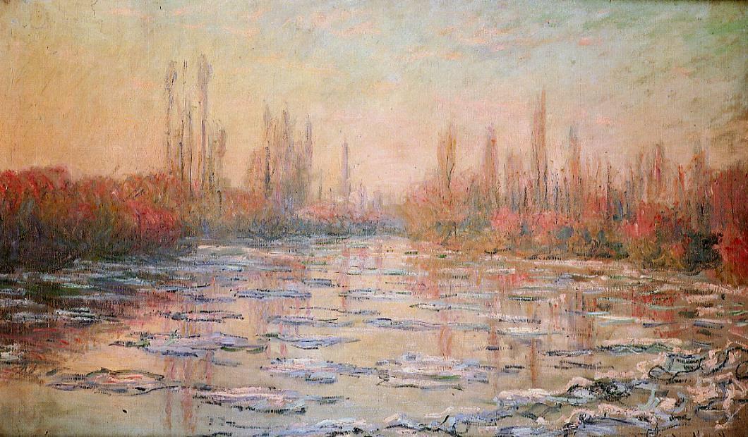 Claude Monet, Treibendes Eis, 1880 (Musée d'Orsay, Paris)