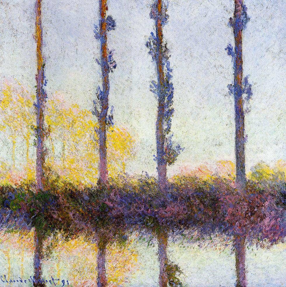 Claude Monet, Vier Pappeln an der Epte, 1891 (Metropolitan Museum of Art, New York)