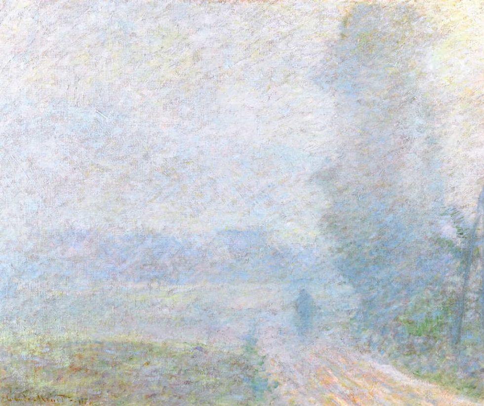 Claude Monet, Weg im Nebel, 1879, Öl auf Leinwand, 60 x 73 cm (Privatsammlung)
