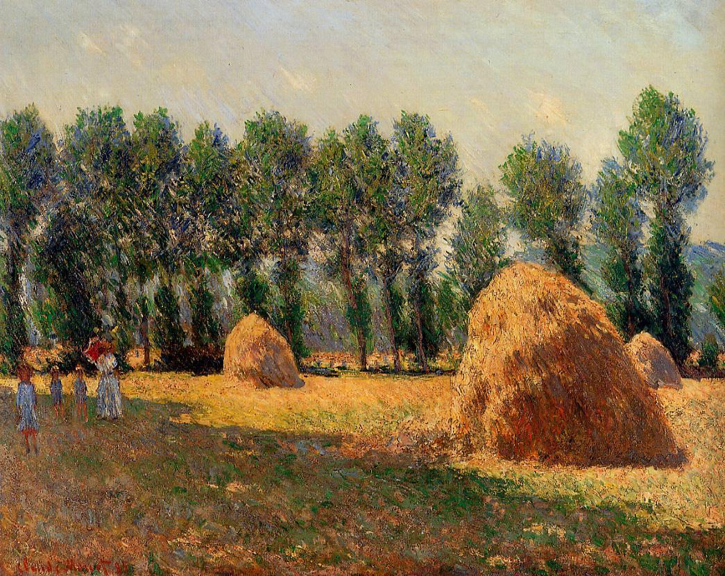 Claude Monet, Getreideschober in Giverny, 1885, Öl auf Leinwand, 65 x 81 cm (Privatsammlung)