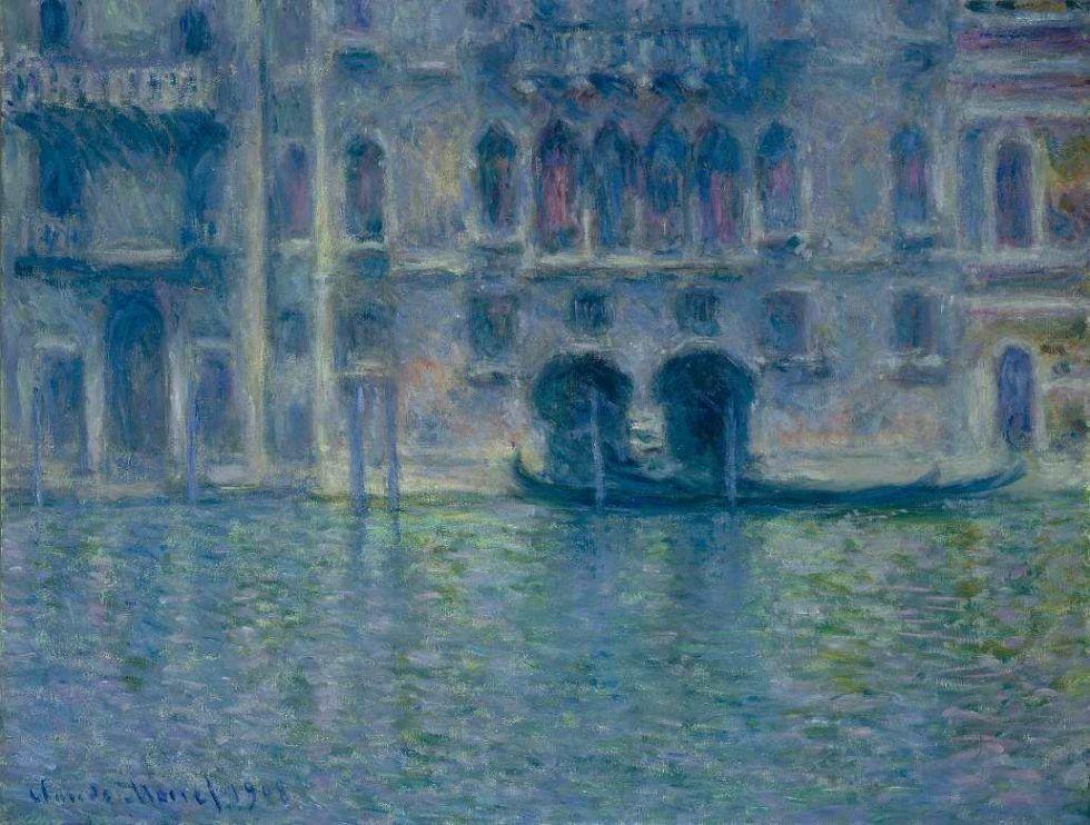 Claude Monet, Palazzo da Mula, Venedig, 1908, Öl auf Leinwand (The National Gallery of Art, Washington, Chester Dale Collection)