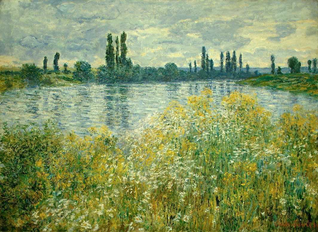 Claude Monet, Ufer der Seine, Vétheuil, 1880 (The National Gallery of Art, Chester Dale Collection, Washington)