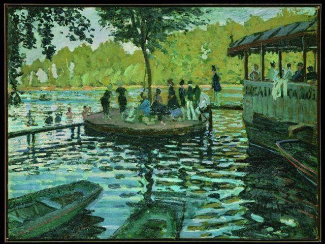 Claude Monet, La Grenouillère, 1869, Öl auf Leinwand, 74,6 x 99,7 cm (The Metropolitan Museum of Art, New York © Metropolitan Museum of Art, dist.service presse Rmn / image of the MMA)