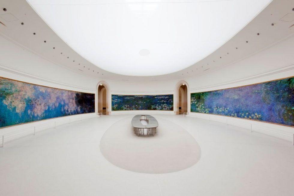 Musée de l'Orangerie, Salle des Nymphéas (Claude Monet) © photo Sophie Boegly, Paris 2010.