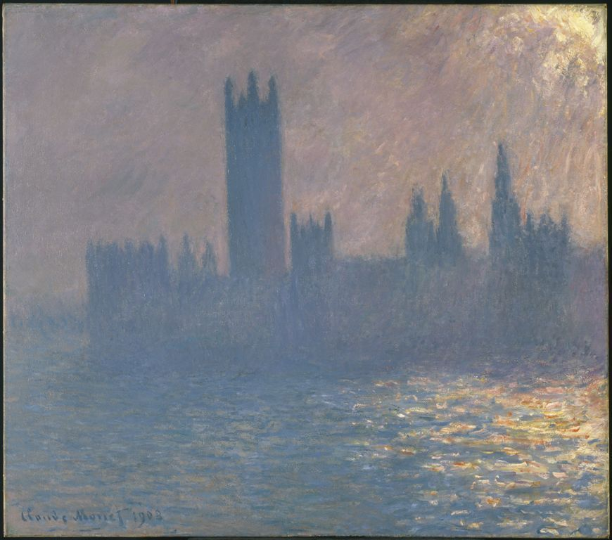 Claude Monet, Le Parlement, effet de soleil [Parlament, Sonnenlicht Stimmung], 1903¸ Öl/Lw, 104,8 X 115,6 Cm (Brooklyn Museum of Art)