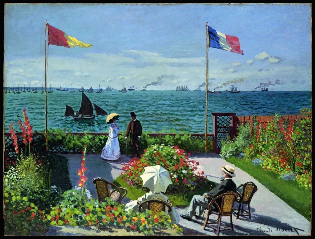 Claude Monet, Terrasse à Sainte-Adresse, 1867, Öl auf Leinwand, 98 x 130 cm (The Metropolitan Museum of Art, New York © Metropolitan Museum of Art, dist. service presse Rmn / image of the MMA)