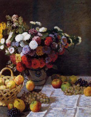 Claude Monet, Blumen und Früchte, 1869 (J. Paul Getty Museum, Los Angeles)