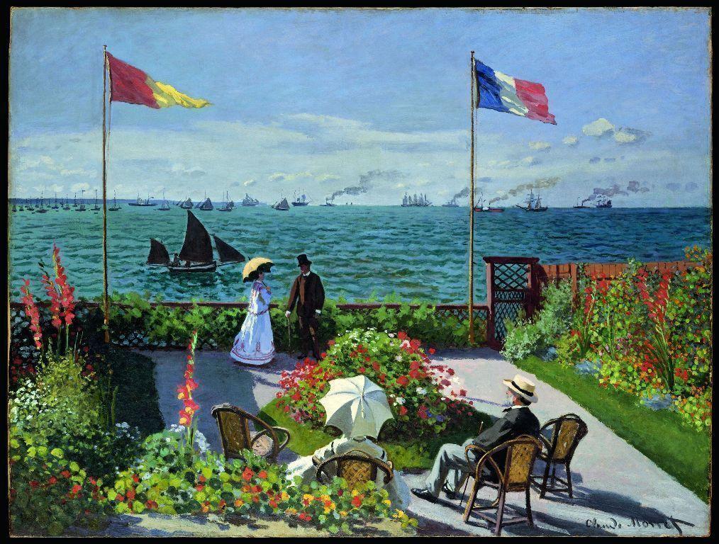 Claude Monet, Terrasse à Sainte-Adresse, 1867, Öl auf Leinwand, 98 x 130 cm (The Metropolitan Museum of Art, New York © Metropolitan Museum of Art, dist. service presse Rmn / image of the MMA)