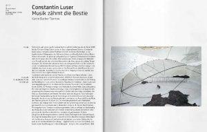 Constantin Luser: Musik zähmt die Bestie, Ausstellungskatalog Kunsthaus Graz, S. 16–17: Der weiße Raum, 2005